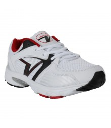 Vostro White Black Sports Shoes for Men - VSS0254